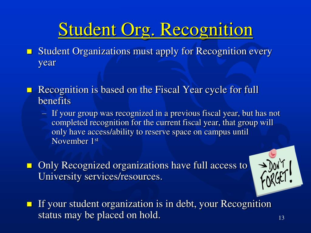 Student Org. Recognition
