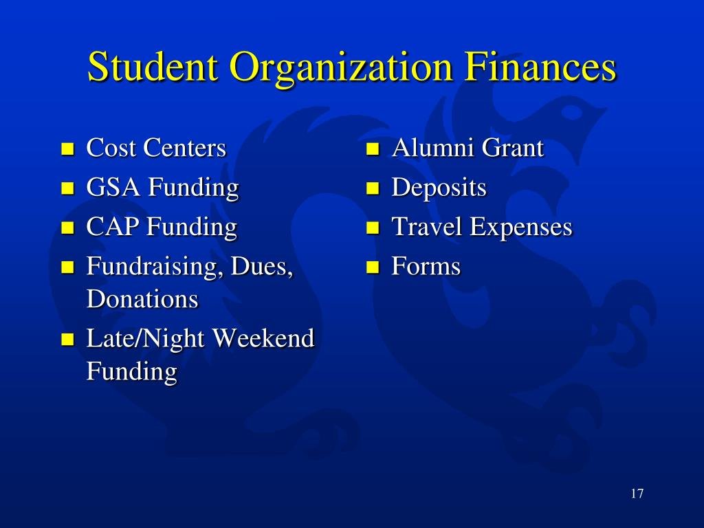 Student Organization Finances