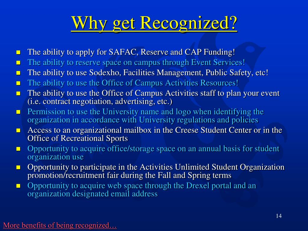 The ability to apply for SAFAC, Reserve and CAP Funding!