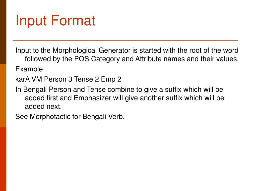Input Format