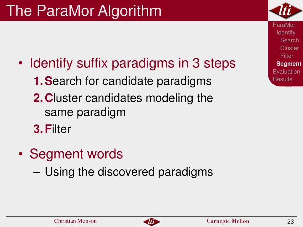 The ParaMor Algorithm