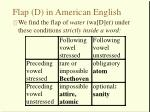flap d in american english