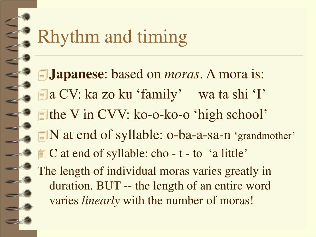 Rhythm and timing