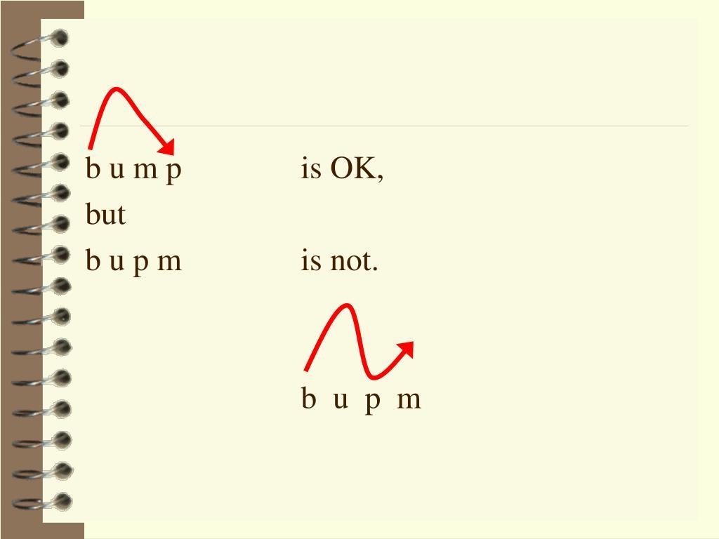 b u m p is OK,