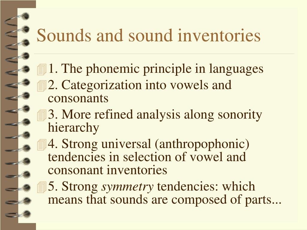 Sounds and sound inventories