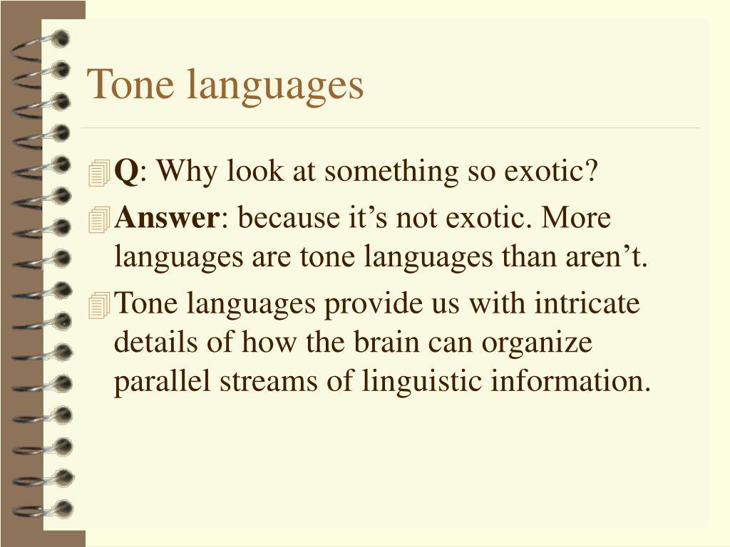 Tone languages