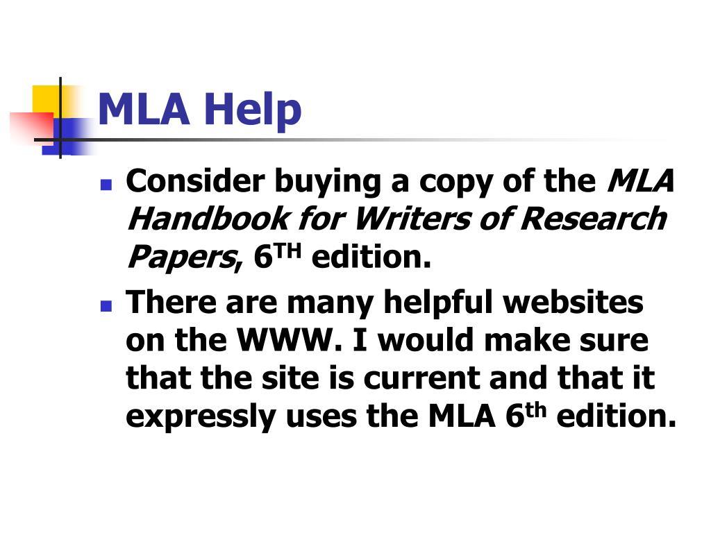MLA Help