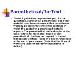parenthetical in text