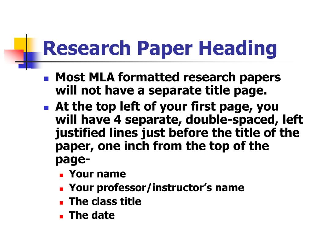Research Paper Heading