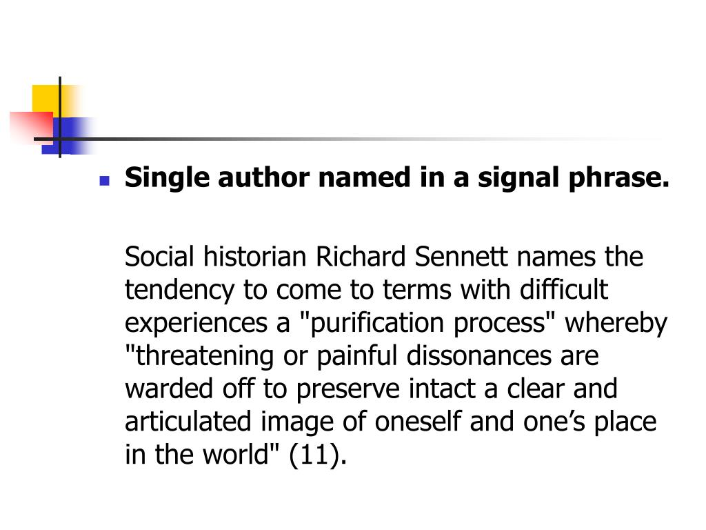 Single author named in a signal phrase.