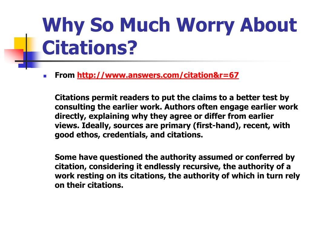 Why So Much Worry About Citations?