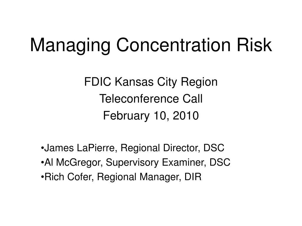 Managing Concentration Risk