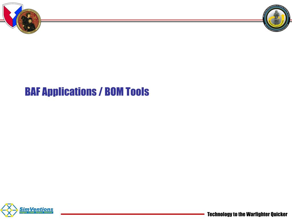 BAF Applications / BOM Tools
