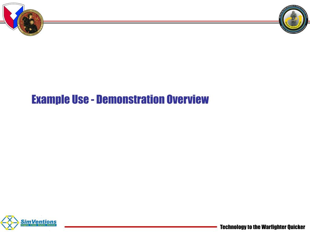 Example Use - Demonstration Overview