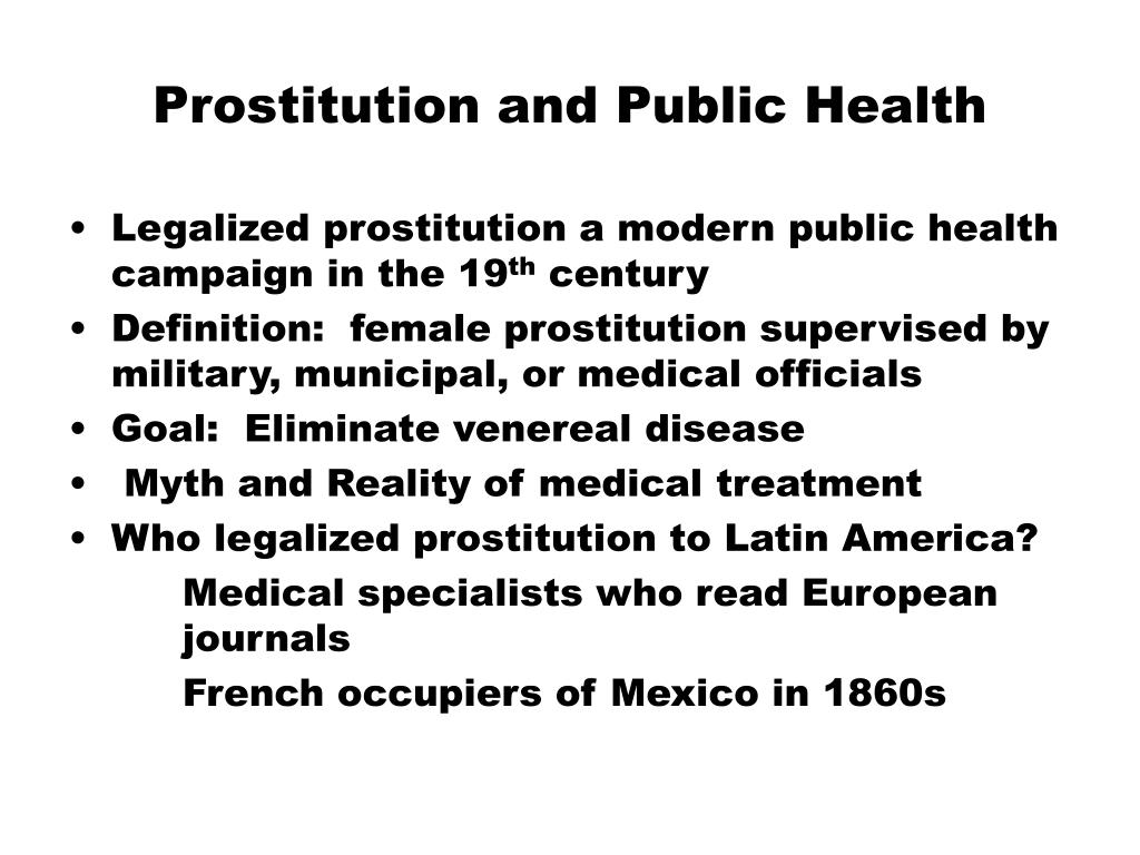 Prostitution and Public Health