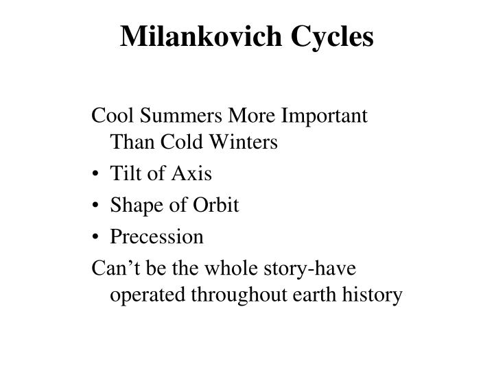 Milankovich Cycles