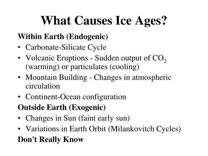 What Causes Ice Ages?