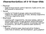 characteristics of 8 10 year olds