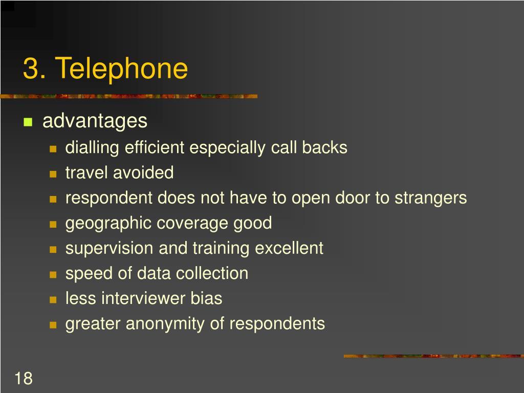 3. Telephone