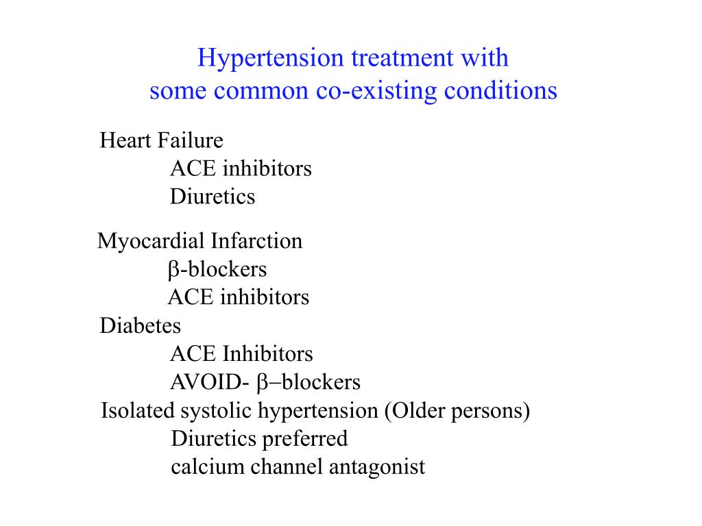 Hypertension treatment with