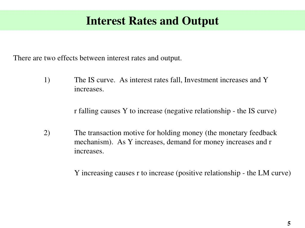 Interest Rates and Output