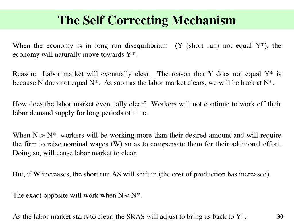 The Self Correcting Mechanism