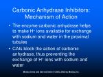 carbonic anhydrase inhibitors mechanism of action