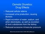 osmotic diuretics drug effects