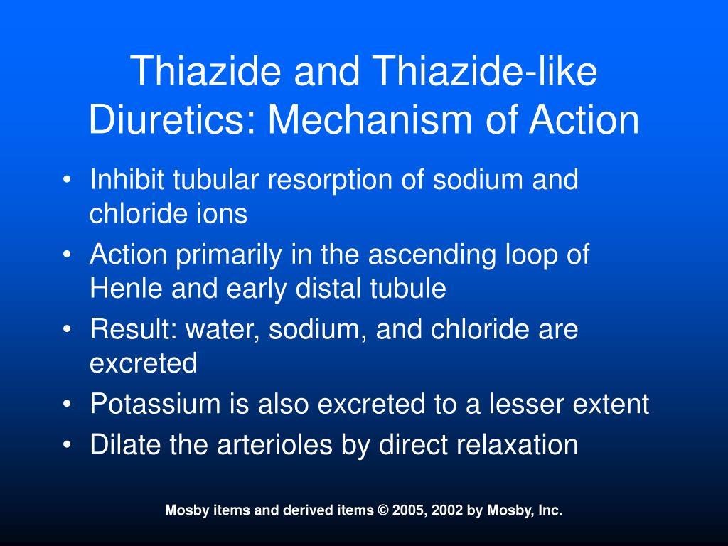 Thiazide and Thiazide-like Diuretics: Mechanism of Action