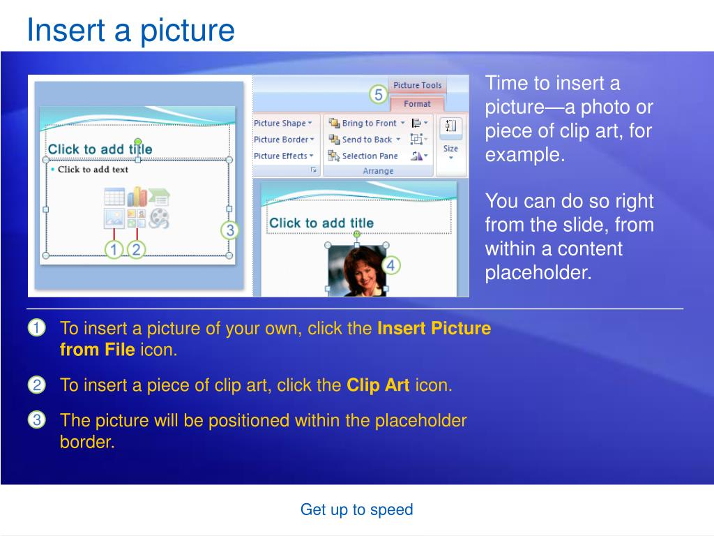 Insert a picture