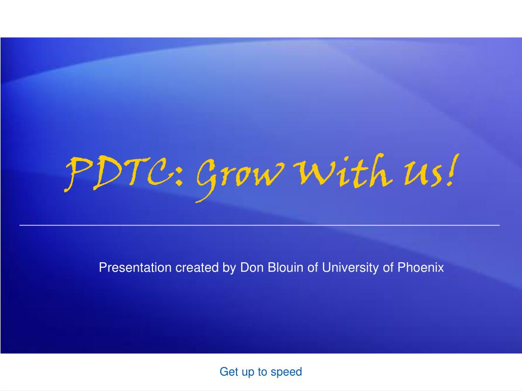 PDTC: Grow With Us!
