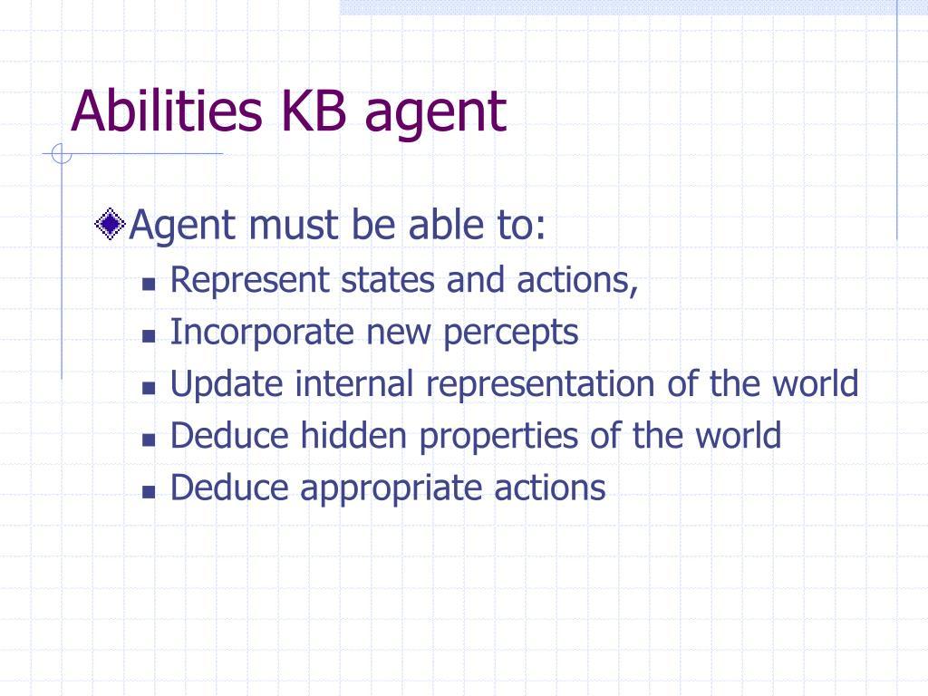 Abilities KB agent
