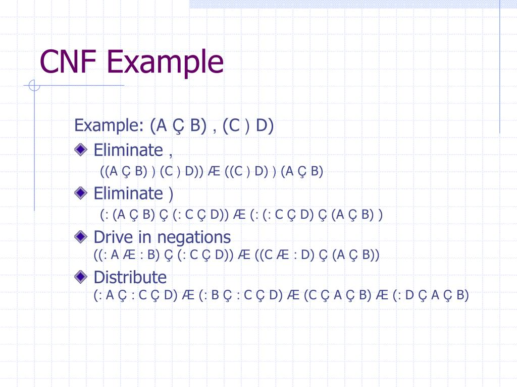 CNF Example