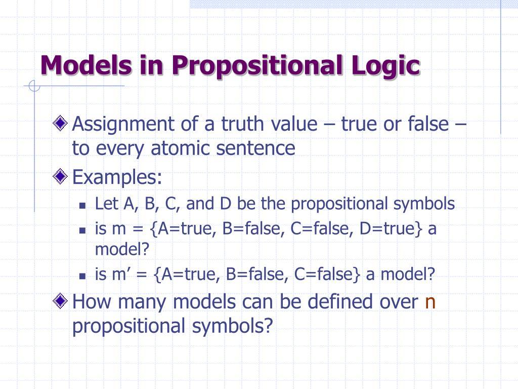 Models in Propositional Logic