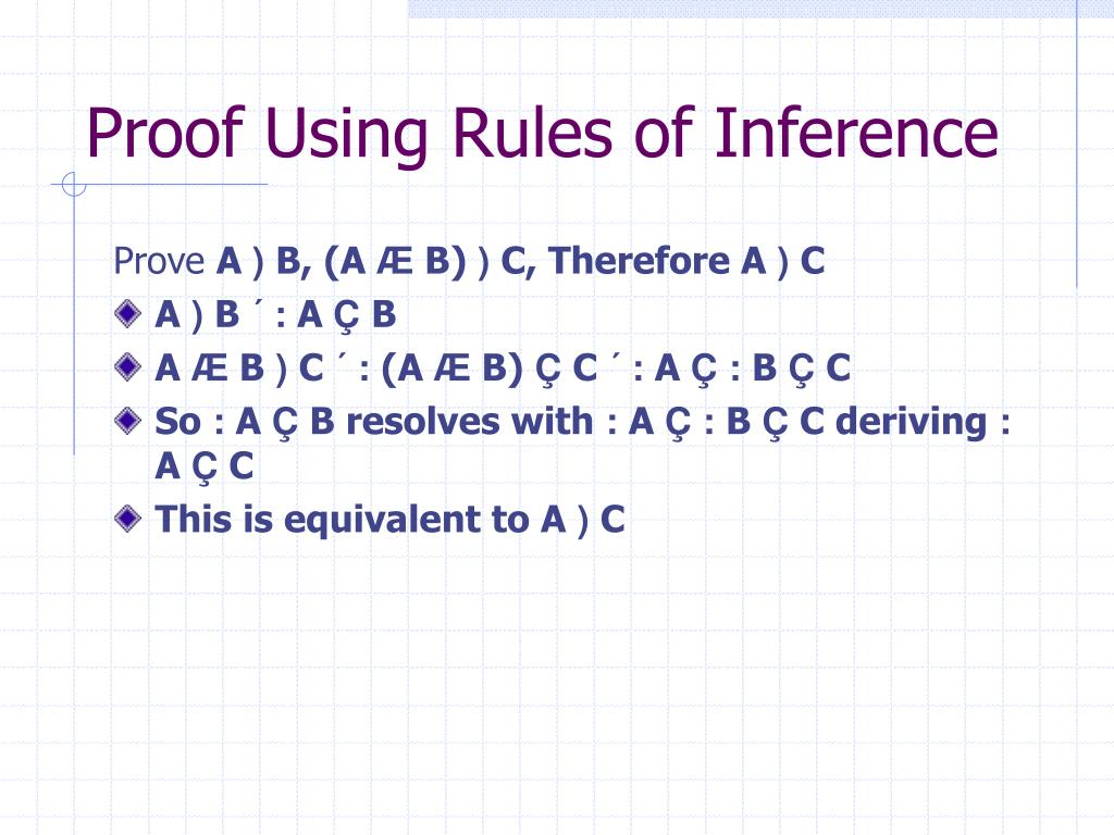 Proof Using Rules of Inference