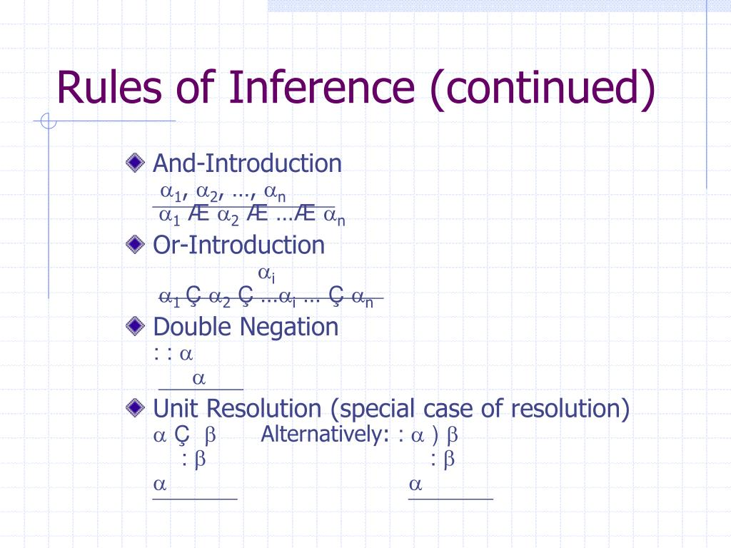 Rules of Inference (continued)