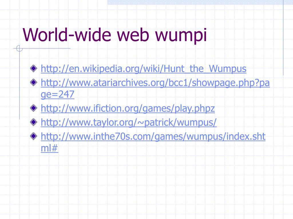 World-wide web wumpi