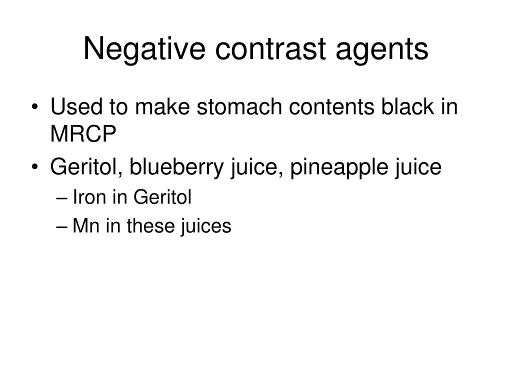 Negative contrast agents