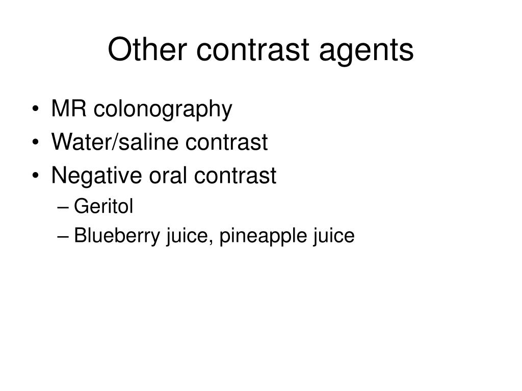 Other contrast agents