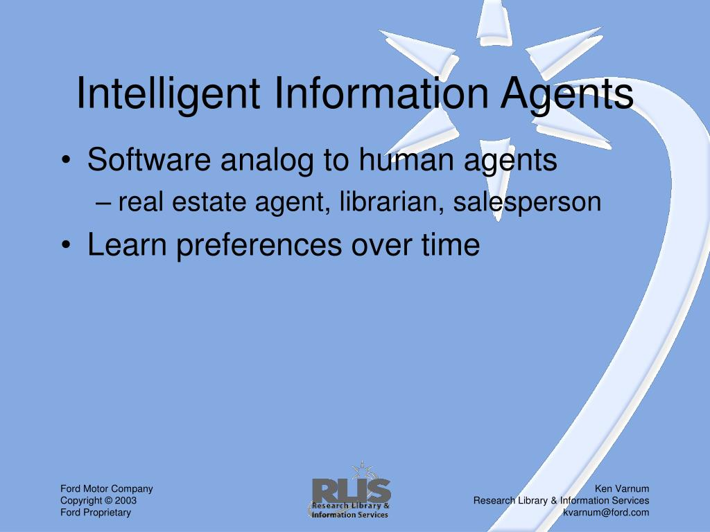 Intelligent Information Agents