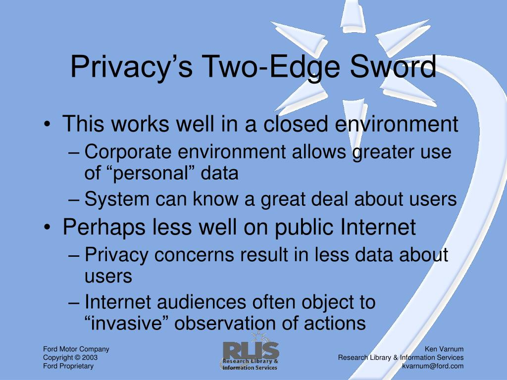 Privacy's Two-Edge Sword