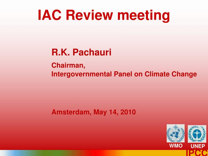 Iac review meeting