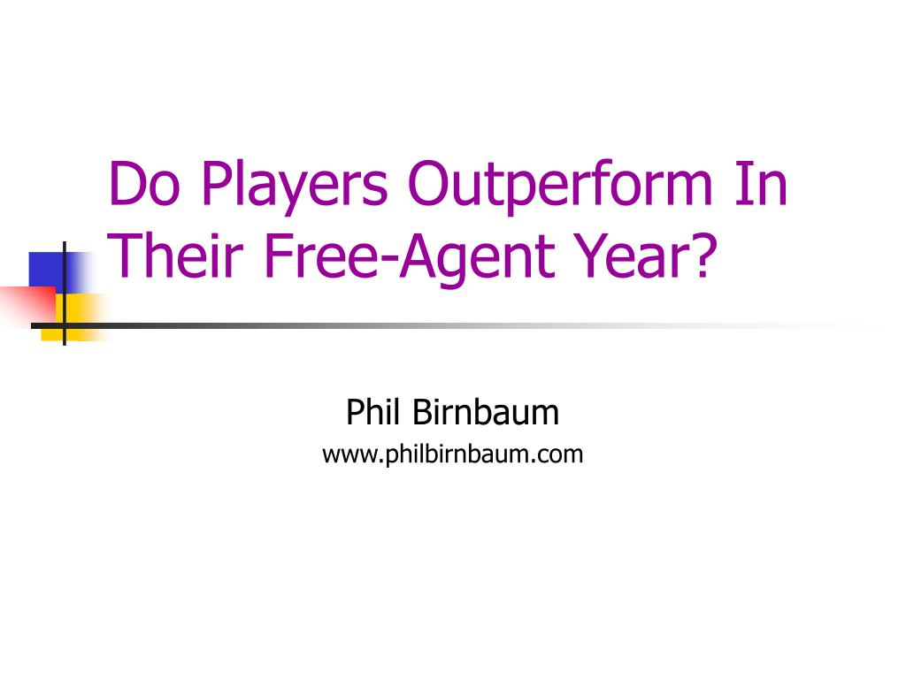do players outperform in their free agent year