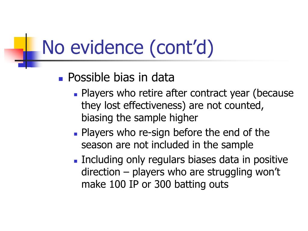 No evidence (cont'd)