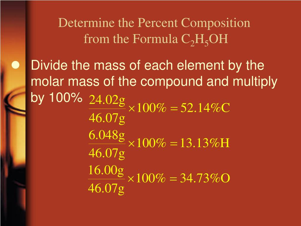 Determine the Percent Composition