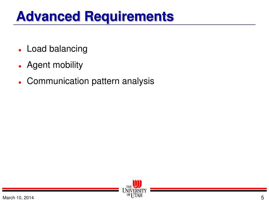 Advanced Requirements