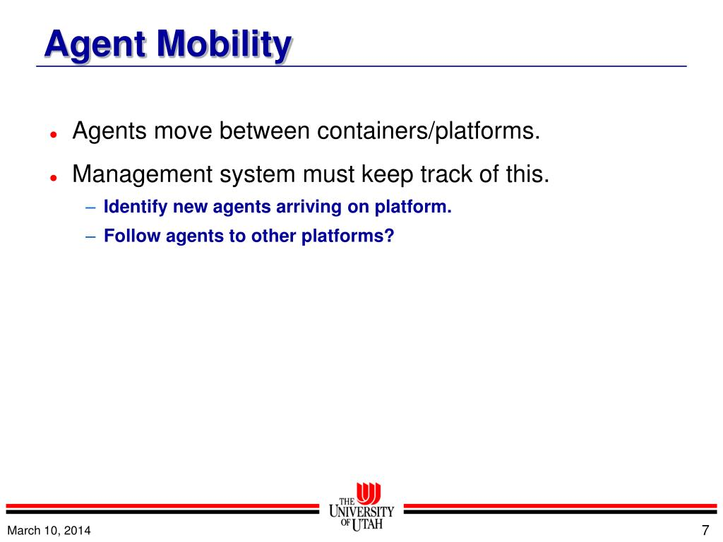 Agents move between containers/platforms.