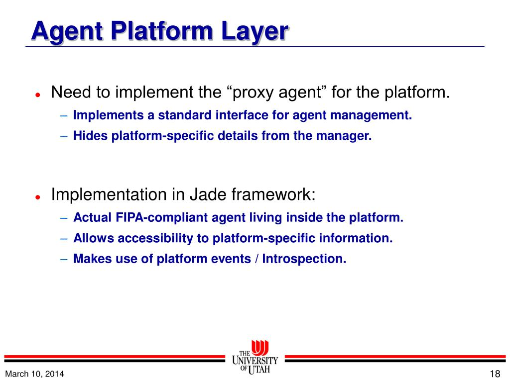 """Need to implement the """"proxy agent"""" for the platform."""