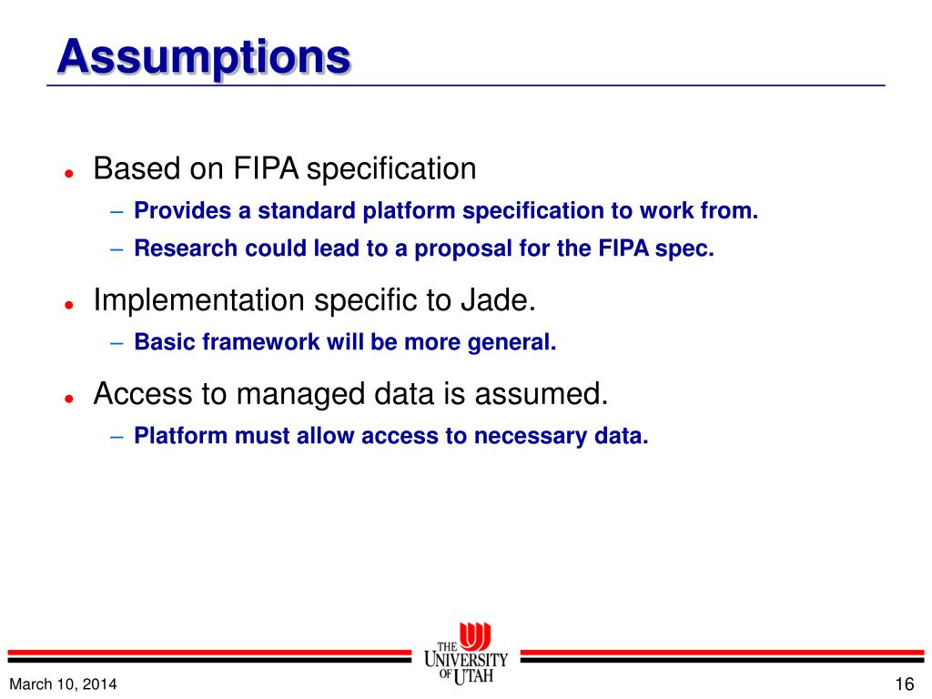 Based on FIPA specification