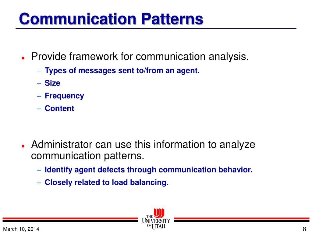 Provide framework for communication analysis.